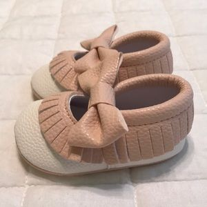 Other - Pink and White Moccasins